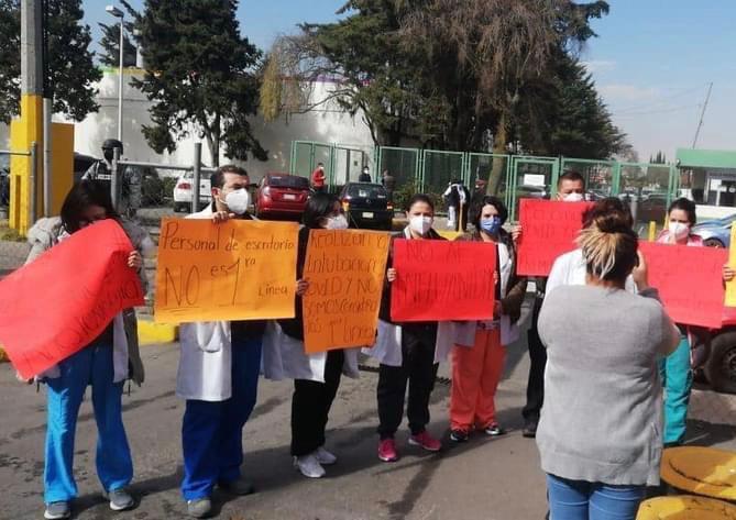 MÉDICOS ANESTESIÓLOGOS SE MANIFIESTAN, PIDEN SER VACUNADOS CONTRA COVID-19